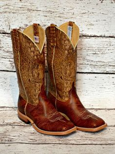 Croc Print Top Anderson Bean boots from Mule Barn.