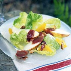 Cherry Vinaigrette    Chefs at North Peak Brewing Company in Traverse City, Michigan, make this tangy, thick, cherry-color dressing for tossed salads. We like it over fresh fruit, too.