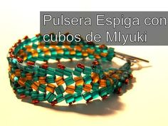Bead Crafts - Spike Bracelet with Miyuki Cubes - YouTube