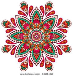 Find Flower Mandala Vintage Decorative Elements Oriental stock images in HD and millions of other royalty-free stock photos, illustrations and vectors in the Shutterstock collection. Mandala Art, Mandala Design, Mandala Drawing, Mandala Painting, Dot Painting, Flower Illustration Pattern, Illustration Blume, Motif Oriental, Oriental Pattern