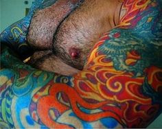 """""""Flames of the Bogarden Emberscale Dragon."""" Muscle sleeves. Tattoos, body art."""