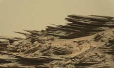 Curiosity has seen a lot of layered rocks on the surface of Mars, like these amazing rocks captured on July, 2015. Credits: NASA/JPL-Caltech/MSSS
