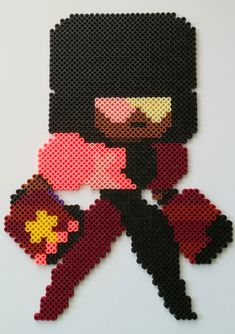 Garnet+Perler+Bead+by+kamikazekeeg.deviantart.com+on+@DeviantArt
