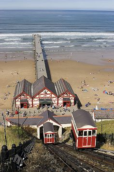 by Paul Robertson Saltburn water powered cliff lift