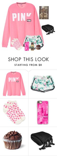 """I spend too much money at PINK"" by raquate1232 ❤ liked on Polyvore featuring GUESS, Kate Spade, Casetify and Charter Club"
