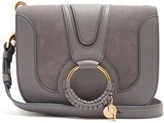 SEE BY CHLOÉ Hana suede and leather cross-body bag