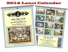 2014 Lenci Doll Calendar New Watercolor Paintings by ADA Mae Scott Lovely Gift | eBay