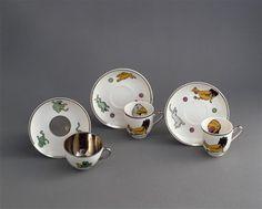 * Service à café (dinette) décoré du Canard Gédéon Benjamin Rabier (1864 - 1939)