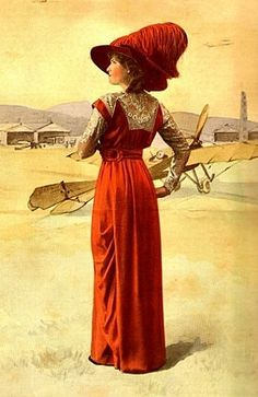 Mode illustrée, 1912... very cool to notice the airplanes in the back ground