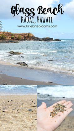 Kauai Glass Beach in Hawaii Beach Vacation Tips, Kauai Vacation, Hawaii Honeymoon, Hawaii Travel, Beach Trip, Vacation Destinations, Travel Usa, Beach Vacations, Vacation Ideas