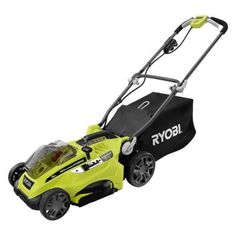 Ryobi 16 in. ONE  18-Volt Lithium-ion Hybrid Cordless or Corded Lawn Mower - Battery and Charger Not Included-P1102A - The Home Depot