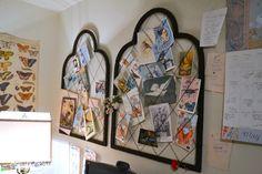 Karen - The Graphics Fairys house - string and frame bulletin boards