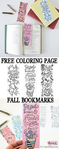 Free Printable Fall Bookmarks By Dawn Nicole - 15 Fabulous Free Printable Colouring Pages For Big Kids and Adults