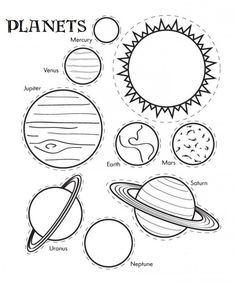 Solar System Coloring Pages For Kids. Here you can find the different planets our solar system in the Solar System coloring pages. The solar system is a planeta Solar System Worksheets, Solar System Activities, Solar System For Kids, Solar System Crafts, Solar System Planets, Planets Activities, Solar Kids, Planets Preschool, Space Activities