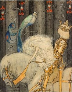 """The Blue Bird,"" illustrated by John Bauer  @HorribleSanity"
