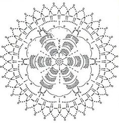схема вязания мотива 14 Irish Crochet Patterns, Crochet Snowflake Pattern, Crochet Snowflakes, Crochet Mandala, Crochet Diagram, Crochet Designs, Crochet Doilies, Crochet Flowers, Crochet Stitches
