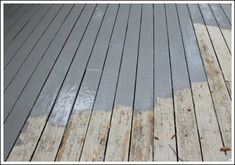 Painting a Deck - New Product by Behr that made painting my deck a breeze! Painting a Deck - New Product by Behr that made painting my deck a breeze! Deck Colors, Deck Makeover, Porch Flooring, My Pool, How To Make Paint, How To Paint Deck, Up House, House Deck, House Roof