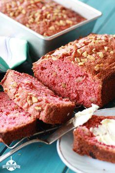 Strawberry Bread ~ It's the perfect dessert, snack, even breakfast.