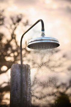 ↨Gottta have an outdoor shower when ya live on the ocean