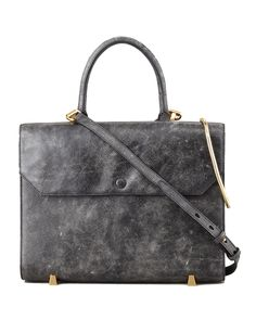 THE MINIMALIST: There is so much to love about this briefcase-inspired Alexander Wang satchel.