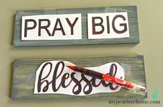 Handmade sign, sign, tutorial, DIY sign, faith sign, blessed