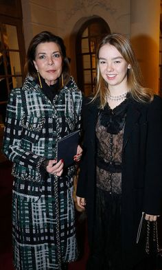 "Princess Caroline de Hanovre and her daughter Princess Alexandra de Hanovre attend the ""Chanel Collection des Metiers d'Art : Paris Cosmopolite"" Get premium, high resolution news photos at Getty Images Princess Stephanie, Princess Charlene, Crown Princess Victoria, Princess George, Ernst August, Princesa Carolina, Monaco Royal Family, Grace Kelly, Charlotte"