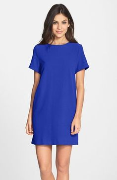 $88, Nordstrom Felicity Coco Crepe Shift Dress. Sold by Nordstrom. Click for more info: https://lookastic.com/women/shop_items/254537/redirect