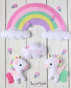 LegaCies and Rainbows Baby Crafts, Felt Crafts, Diy And Crafts, Crafts For Kids, Arts And Crafts, Felt Mobile, Baby Mobile, Bebe Love, Craft Projects