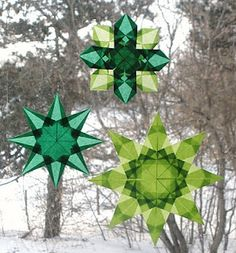 something green...or make a winter rainbow of colors on your windows. who says snowflakes must be white?