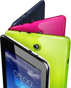 The upcoming Asus Memo Pad HD 7 tablet with Android comes in colorful color options - release in early August 2013. Good cameras, sound, screen, display colors, and even price...