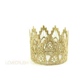 Gold Lace Crown  WASHABLE  Ready to Ship Sienna by lovecrushcrowns