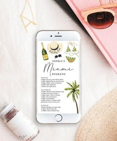 Easily text the weekends agenda to everyone with this lovely editable weekend itinerary! Great for bachelorette parties, girls weekends or a fun getaway with friends! **PLEASE NOTE** - This is an instant download pdf that you can edit on your home computer. - Can not be edited on a mobile device. Bachelorette Itinerary, Beach Bachelorette, Your Message, Friends In Love, Miami, How To Memorize Things, Messages, Templates, How To Plan