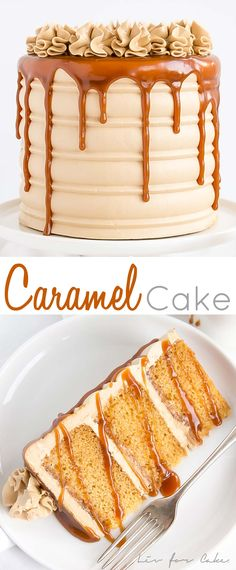 This Caramel Cake is perfect for that die hard caramel fan in your life. Homemad… This Caramel Cake is perfect for that die hard caramel fan in your life. Homemade caramel sauce is used in the cake layers, frosting, and… Continue Reading → Just Desserts, Delicious Desserts, Dessert Recipes, Health Desserts, Drip Cake Recipes, Food Cakes, Cupcake Cakes, Cupcakes, Cookie Cakes