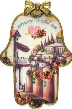 By Artist Michal David 'If I Forget Thee Jerusalem' Wall Hamsa Hamsa Meaning, Hamsa Art, Belly Painting, Turkish Art, Jewish Art, Hand Of Fatima, Punk Jewelry, Yoga Jewelry, Hippie Jewelry