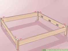 How to Build a Wooden Bed Frame - - bed build frame kingbeddiy woodenbed.How to Build a Wooden Bed Frame - - bed build frame kingbeddiy woodenbed New in my home Wood Bed Frame Queen, Build Bed Frame, Making A Bed Frame, Diy King Bed Frame, Bed Frame Plans, Twin Size Bed Frame, Bed Plans, Toddler House Bed, Diy Daybed