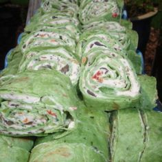 Veggie Cream Cheese Roll-Ups instead of flour tortillas use spinach leaves or lettuce