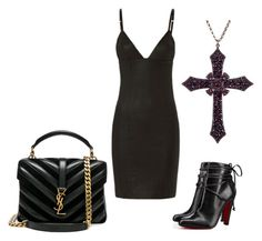 Leather Camisole Dress by rebecca-shosey on Polyvore featuring T By Alexander Wang, Christian Louboutin and Yves Saint Laurent