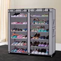 Lovinland Shoes Rack Shelf Non-woven Fabric Shoes Cabinet 6 Layer 12 Grid with Cover Shoes Closet Storage Rack Coffee Shoe Storage Organiser, Shoe Storage Solutions, Shoe Rack Organization, Storage Rack, Storage Shelves, Diy Shoe Organizer, Closet Shoe Storage, Shoe Storage Cabinet, Closet Shelves