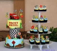Inspiration for a Cars & lightning McQueen cake and cupcakes. Novelty Cakes Dubai. Sweet Secrets. www.sweetsecretsdubai.com