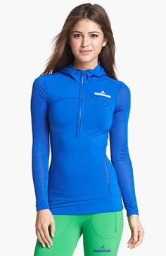 adidas by Stella McCartney 'Run' Hooded Sweatshirt available at #Nordstrom