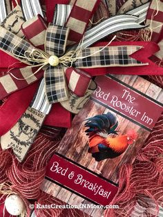 Buffalo Plaid Burlap Farm Wreath Plaid gingham chicken wire wall decor wooden sign Rustic Farmhouse Country Wreath for Front Door Decor
