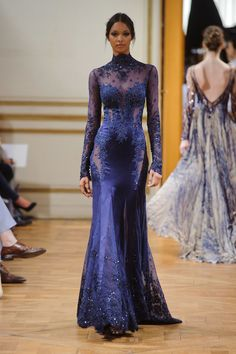 I love the blue color of this Zuhair Murad gown. It is sexy and glamorous with the sheer and shimmer