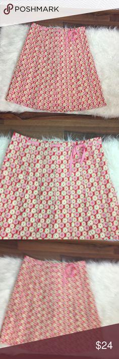 "/J. Crew/Floral A-Line Cotton Skirt Ribbon Trim /J. Crew/Floral A-Line Cotton Skirt Ribbon Trim  Excellent used condition  Waist laying flat 17"" Length 23"" J. Crew Skirts Midi"