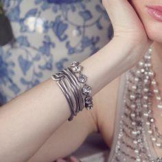Duchess Multi-Row Snake Chain Bracelet
