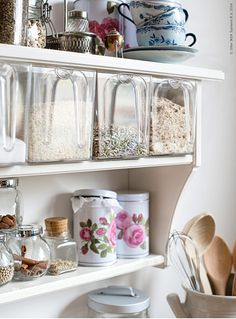 For the Home Ikea Shelves, Ikea Storage, Ikea Kitchen Accessories, Home Accessories, Ikea 2014, Dining Corner, Homemade Home Decor, Decorating Small Spaces, Vintage Shabby Chic