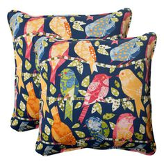 @Overstock - Pillow Perfect Ash Hill Polyester Corded Outdoor Square Throw Pillows (Set of 2) - Refresh the look of your indoor or outdoor space with this set of alluring Ash Hill throw pillows from Pillow Perfect. These weather-resistant outdoor pillows exude stylish elegance showcasing a bird-inspired pattern design.    http://www.overstock.com/Home-Garden/Pillow-Perfect-Ash-Hill-Polyester-Corded-Outdoor-Square-Throw-Pillows-Set-of-2/7860563/product.html?CID=214117  $55.99