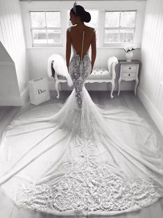 A wedding dress, as we all know is a dress which is worn by the bride on her wedding day. The color and the style of the wedding dress can depend on the cultural and the religious traditions. A sexy wedding dress can. Sheer Wedding Dress, Wedding Dresses With Straps, Lace Mermaid Wedding Dress, Wedding Dress Trends, Sexy Wedding Dresses, Wedding Dress Sleeves, Mermaid Dresses, Bridal Dresses, Lace Dress