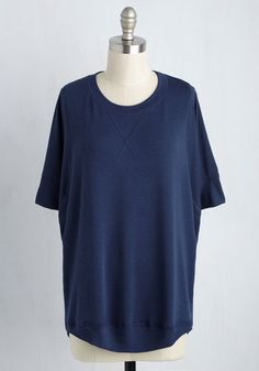 Best of Basics Top in Navy. This navy top is always number one on your list of wardrobe staples! #blue #modcloth