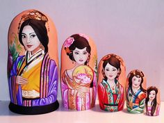 Country beauties - China Matryoshka www.matrioskas.es
