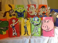 Toy Story Party Goody Bags 10 count on Etsy, $35.00